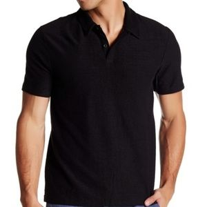 NWT Onia Alec Reversed Terry Polo Shirt-Black